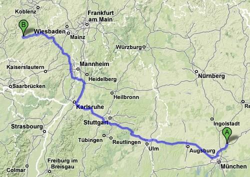 Freising - Frankfurt/Hahn